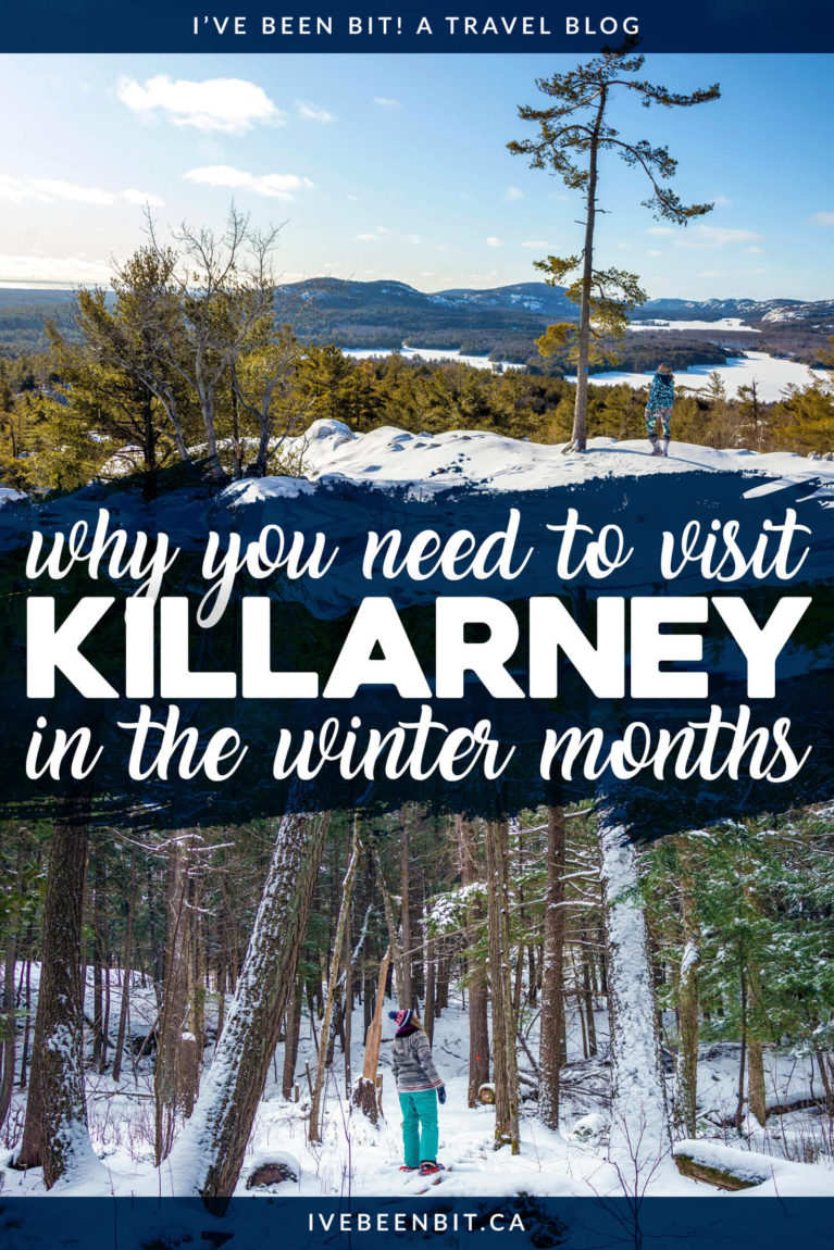 Thinking about winter camping in Killarney? This guide tells you everything you need to know to ensure a snow-mazing good time in the park. Incredible winter camping in Ontario at Killarney Provincial Park. Yurts, cabins, hiking, snowshoeing, skiing & more! | #Travel #Canada #Ontario #Winter #WinterCamping #Yurt #OntarioParks #ProvincialPark #FindYourselfHere #OPpartner | IveBeenBit.ca