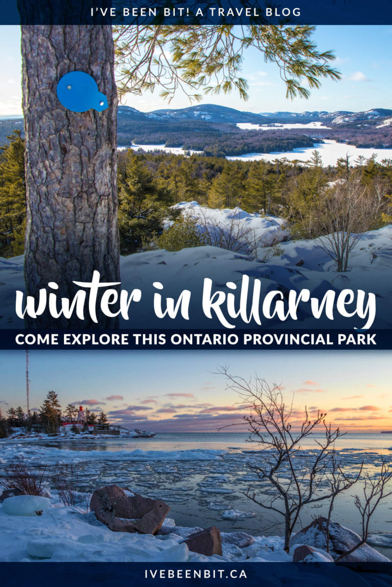 Yurts, cabins, hiking, snowshoeing, skiing & more at this Ontario Park. Thinking about winter camping in Killarney? This guide tells you everything you need to know to ensure a snow-mazing good time in the park. Incredible winter camping in Ontario at Killarney Provincial Park. | #Travel #Canada #Ontario #Winter #WinterCamping #Yurt #OntarioParks #ProvincialPark #FindYourselfHere #OPpartner | IveBeenBit.ca