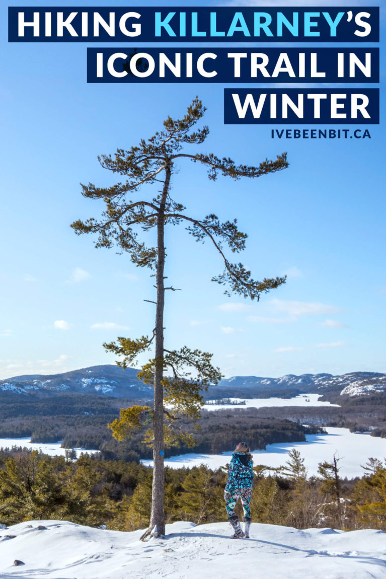 Winter hiking in Ontario. Best Ontario Hikes in winter. Ontario Parks hiking trails. Many travel to Killarney Provincial Park for The Crack but are you brave enough for a winter adventure? This guide tells all on how to tackle The Crack in winter.   #Travel #Canada #Ontario #ProvincialPark #Killarney   IveBeenBit.ca