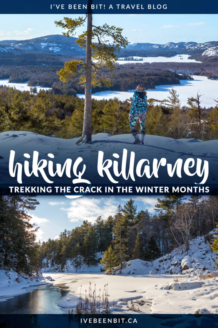 Many travel to Killarney Provincial Park for The Crack... but are you brave enough for a winter adventure? This guide tells all on how to tackle The Crack in winter. Winter hiking in Ontario. Best Ontario Hikes in winter. Ontario Parks hiking trails.   #Travel #Canada #Ontario #ProvincialPark #Killarney   IveBeenBit.ca