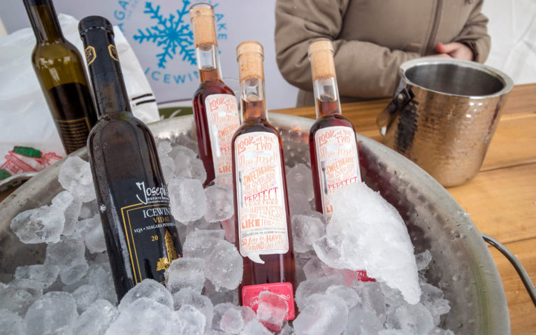 Chilled Bucket of Icewine Bottles in Niagara-on-the-Lake :: I've Been Bit! Travel Blog
