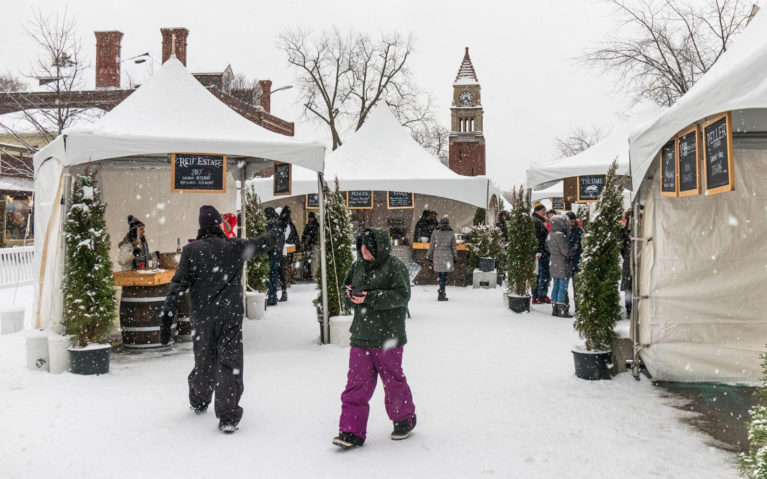 Tents and People in the Niagara Icewine Village :: I've Been Bit! Travel Blog