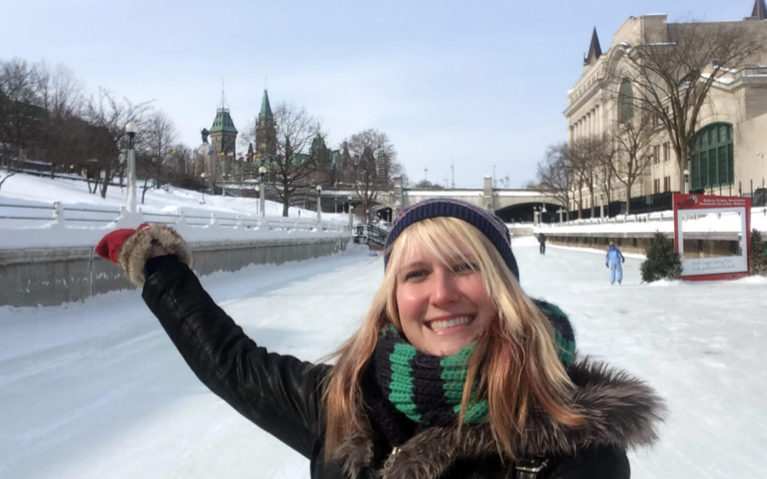 Lindsay Skating On the Rideau Canal :: I've Been Bit! Travel Blog