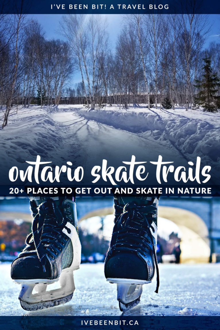 Looking for things to do in Ontario this winter? Check out a skate trail in Ontario! Includes the Rideau Canal, the Bentway in Toronto and more! Things to do in Toronto in winter. Things to do in Ottawa in winter. | #Travel #Canada #Ontario #Winter #WinterTravel #Skating #Toronto #Ottawa | IveBeenBit.ca