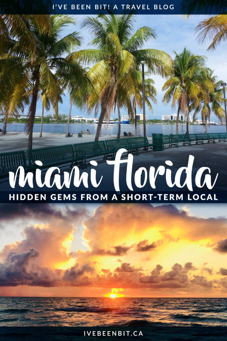 Things to do in Miami Florida. There are so many things to do in Miami it's hard to know where to start. Check out these amazing hidden gems in Miami you don't want to miss! Hidden gems in Miami Beach. | #Travel #USA #UnitedStates #Florida #Miami #MiamiBeach | IveBeenBit.ca
