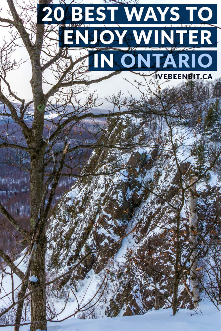 You can hide and mope all winter long or you can make the most of the season with these top 20 things to do in Ontario in winter! Winter in Ontario Canada. Best things to do in winter in Ontario. Canada in winter. | #Travel #Canada #Ontario #WinterTravel | IveBeenBit.ca