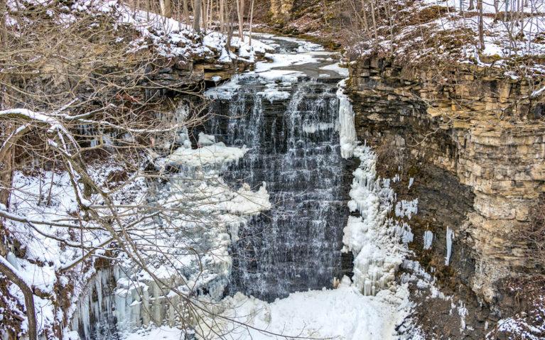 Swayze Falls in Winter :: I've Been Bit! Travel Blog
