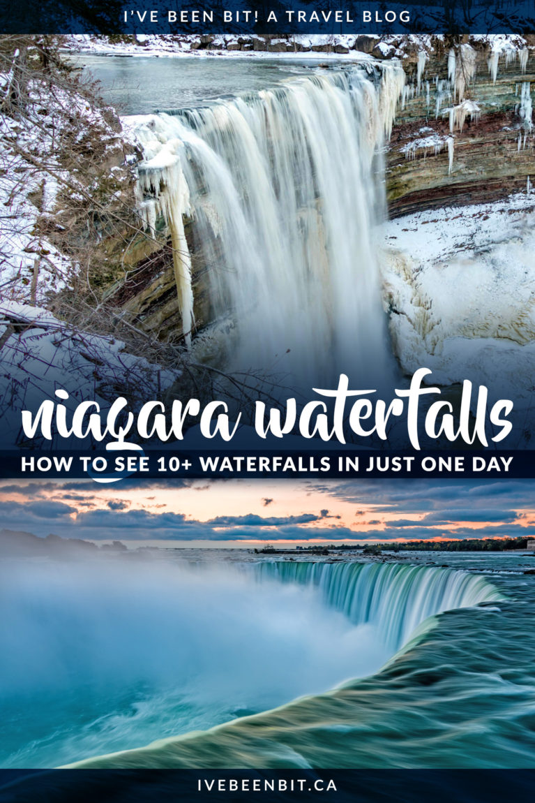 Niagara Falls isn't the only natural beauty you should see! Don't miss these waterfalls in Niagara Region, not including Ontario's most iconic waterfall. Waterfalls in Ontario. Waterfalls in Canada. Canadian waterfalls you have to hike to. | #Travel #Canada #Ontario #NiagaraFalls #NiagaraRegion #Hiking | IveBeenBit.ca