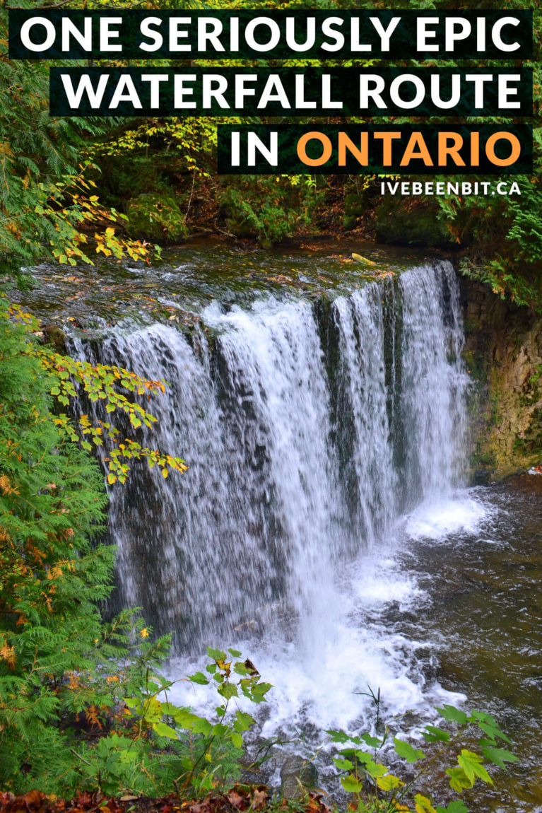 Self-proclaimed waterfall addict? Click now because this is the only guide you'll need to chase some Grey County waterfalls! Includes map, tips & more. Waterfalls in Ontario Canada. Chasing waterfalls in Grey County. Waterfall hikes in Ontario Canada. Hiking the Bruce Trail. | #Travel #Canada #Ontario #GreyCounty #Waterfalls #Hiking #HikingTrails | IveBeenBit.ca
