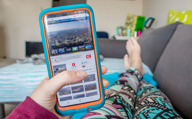 Virtual Tour of the CN Tower on Cellphone :: I've Been Bit! Travel Blog