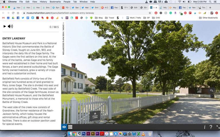 Screenshot of the Battlefield House Museum Virtual Tour :: I've Been Bit! Travel Blog
