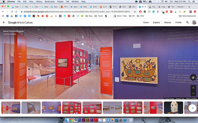 Screenshot of Indigenous Exhibit at the Royal Ontario Museum :: I've Been Bit! Travel Blog