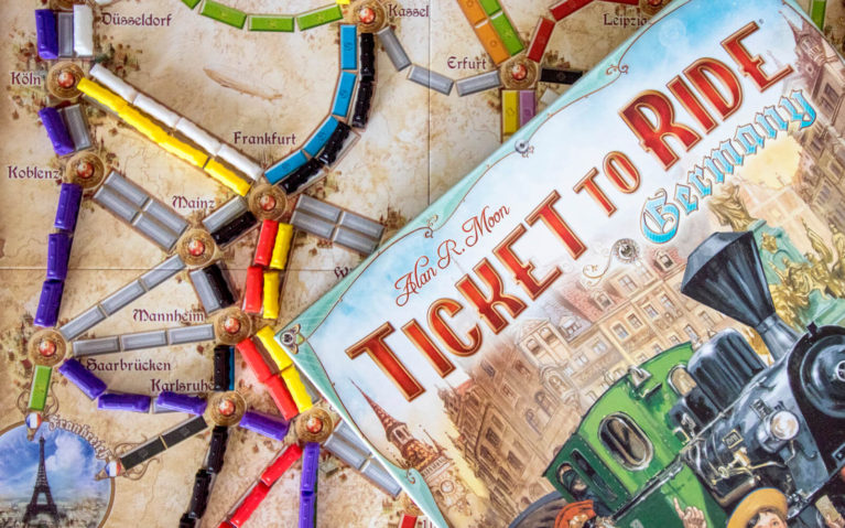 Close Up of the Travel Board Game Ticket to Ride Germany :: I've Been Bit! Travel Blog