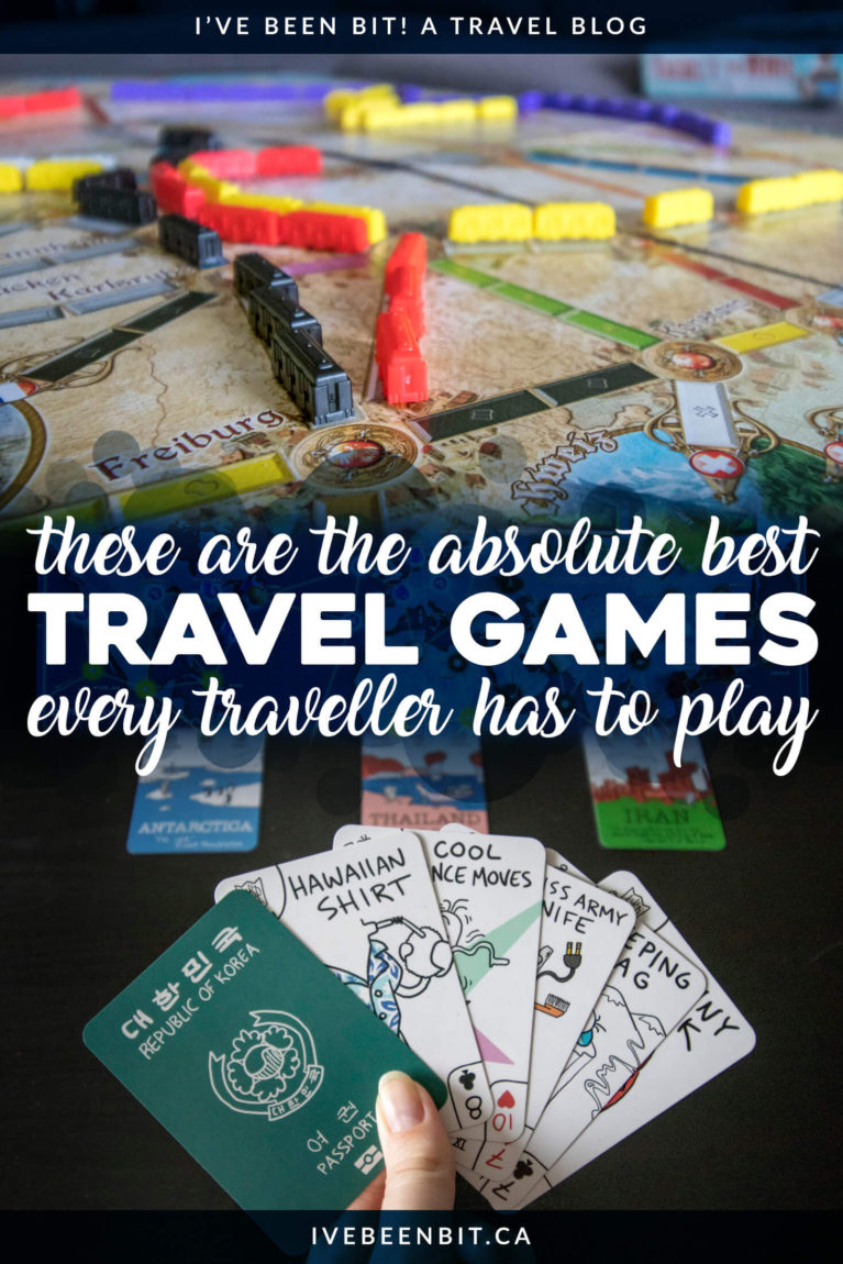 We can't always be travelling so why not satisfy your wanderlust with this amazing list of the best travel games to add to your collection! Best travel board games. Best travel card games. | #Travel #Games #BoardGames #Wanderlust | IveBeenBit.ca