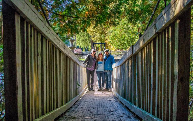 Lindsay with Gemma and JR on a Bridge :: I've Been Bit! Travel Blot