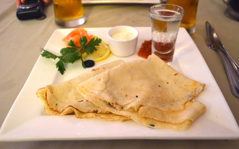 Blini Plate at a Restaurant in Russia :: I've Been Bit! Travel Blog