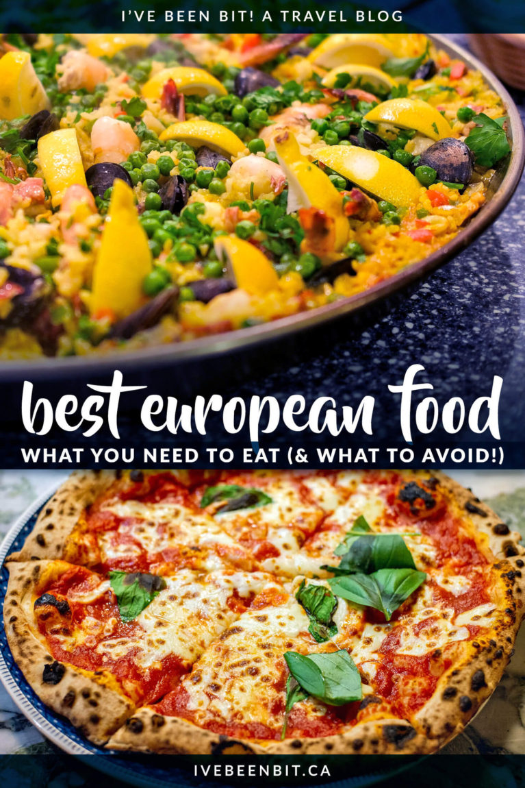 Heading to Europe in the future? Don't miss the 10 best meals in Europe and where to find them. You'll find additional European eats to try as well as what European food to avoid! | #Travel #Europe #Food | IveBeenBit.ca