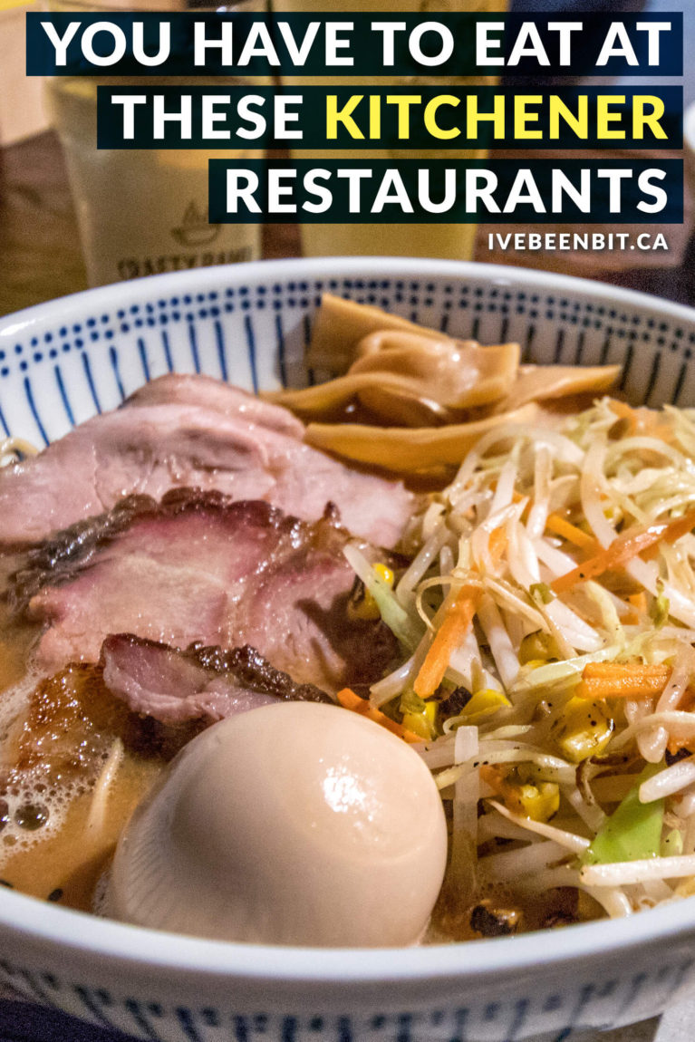 Looking for great food in Waterloo Region? These downtown Kitchener restaurants will treat your taste buds. You won't want to miss these delicious eats! Check out these restaurants in downtown Kitchener Ontario Canada. | #Travel #Canada #Ontario #WaterlooRegion #Kitchener #Restaurants | IveBeenBit.ca
