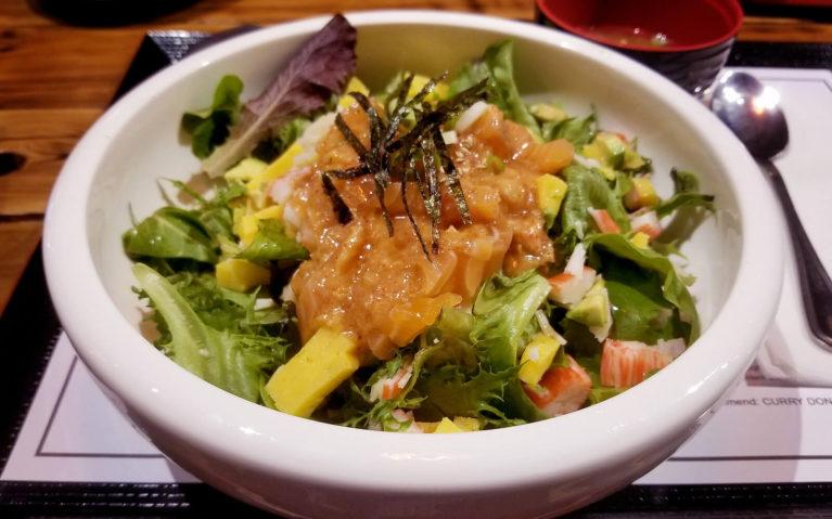 Izna Donburi Rice Bowl with Salmon, Greens, Avocado & More :: I've Been Bit! Travel Blog