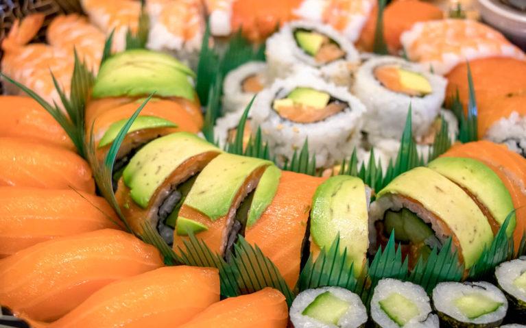 Close Up of Sushi Platter from Taste of Seoul, a Downtown Kitchener Restaurant :: I've Been Bit! Travel Blog