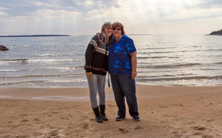 Lindsay with Her Mom North of Sault Ste Marie :: I've Been Bit! Travel Blog