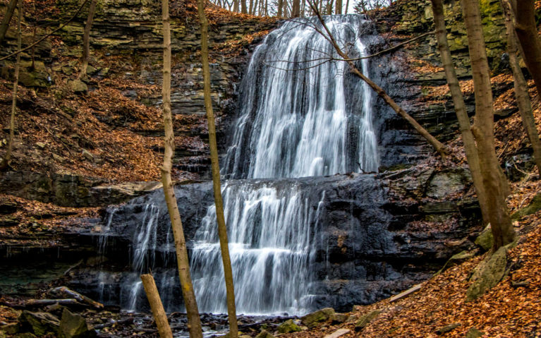 Just One of Hamilton's Waterfalls in Autumn :: I've Been Bit! Travel Blog