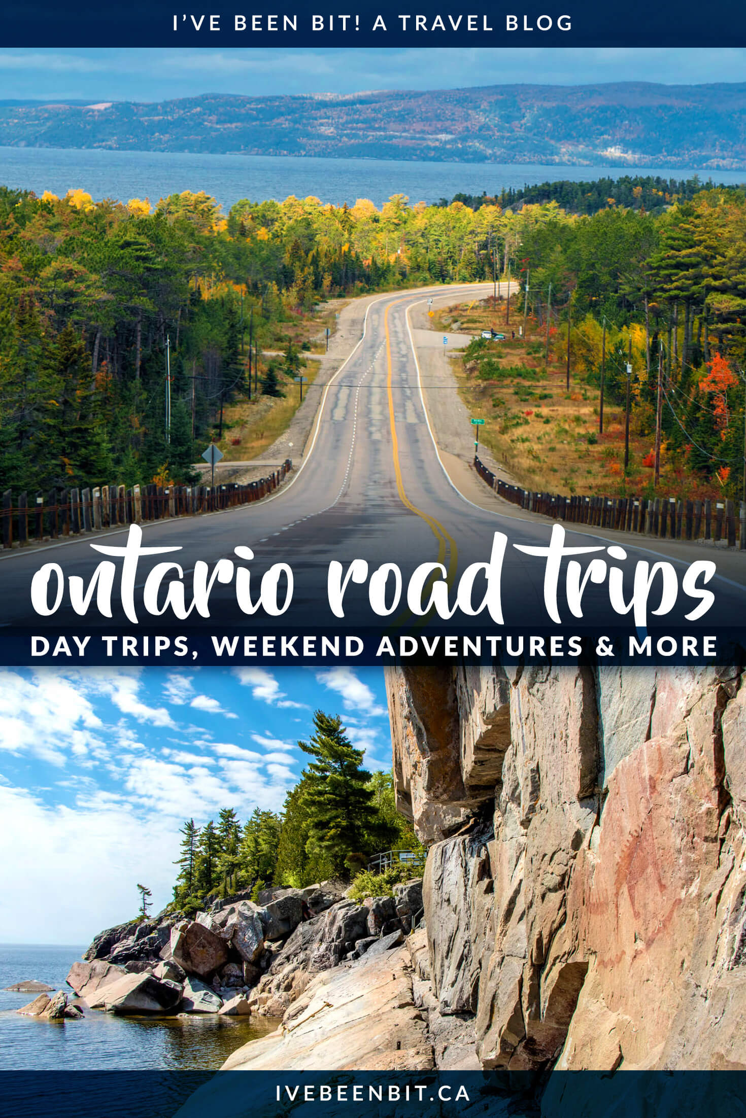 There are so many amazing places to go on a road trip in Ontario. With incredible natural wonders, family fun, wine tasting and more, there's so much to see in Ontario. Whether you're looking for day trips from Toronto, weekend adventures or longer excursions, these are the best Ontario road trips you have to experience! | #Travel #Canada #Ontario #RoadTrip #Toronto | IveBeenBit.ca