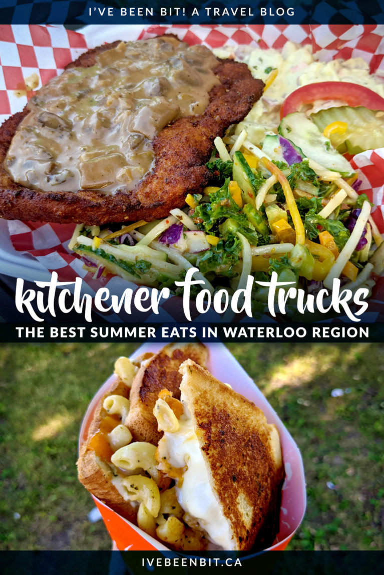 You wouldn't think of Kitchener as a foodie city but just a few bites and you'll change your mind. These Kitchener food trucks are seriously some of the best food trucks in Ontario and are a sure sign of summer in Waterloo Region! | Ontario Food Trucks | Food trucks in Waterloo Region | Waterloo Food Trucks | Cambridge Food Trucks | Summer in Ontario Canada | IveBeenBit.ca