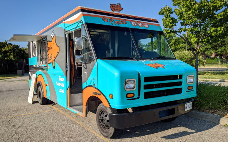 Pierogi Pigs: Their Teal and Orange Colour Scheme Make It the Brightest of the Kitchener Food Trucks :: I've Been Bit! Travel Blog