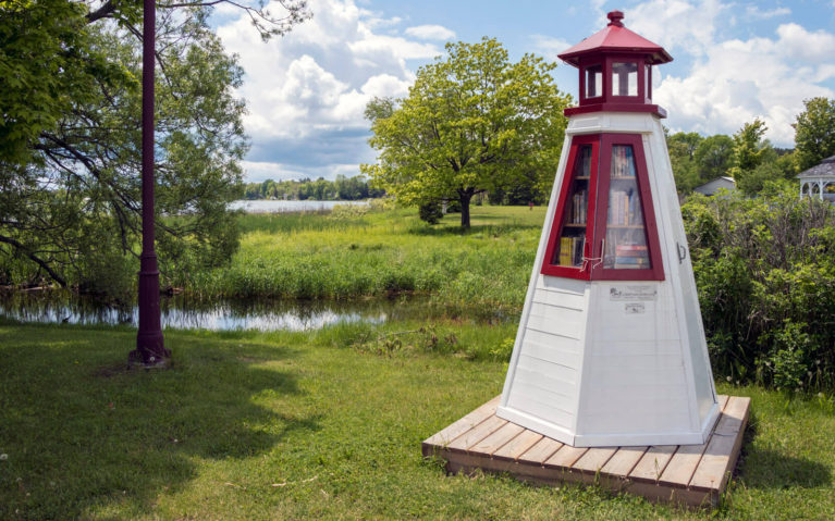 Adorable Lighthouse Free Library in Bruce Mines Ontario :: I've Been Bit! Travel Blog