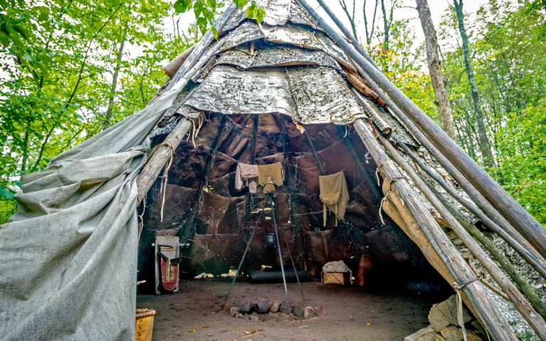 One of the Teepees at the Fort William Historical Park :: I've Been Bit! Travel Blog
