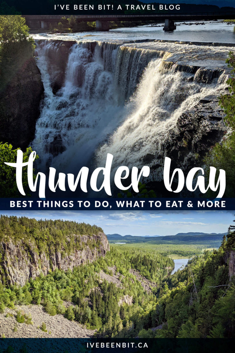 It may be a long drive from Southern Ontario but Thunder Bay is worth the trek. This Thunder Bay guide has everything you need to plan your trip. With things to do in Thunder Bay, where to eat in Thunder Bay & what Thunder Bay hotels to stay at, you're guaranteed to have a memorable trip. | Best 20+ Attractions in Thunder Bay | Thunder Bay Waterfalls | Thunder Bay Itinerary | Thunder Bay Hikes | Where to Go in Ontario Canada | Ontario Road Trips | IveBeenBit.ca