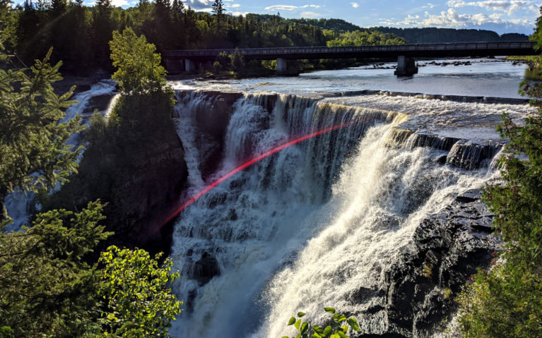 Views of Kakabeka Falls Just As the Golden Hour is Setting In :: I've Been Bit! Travel Blog