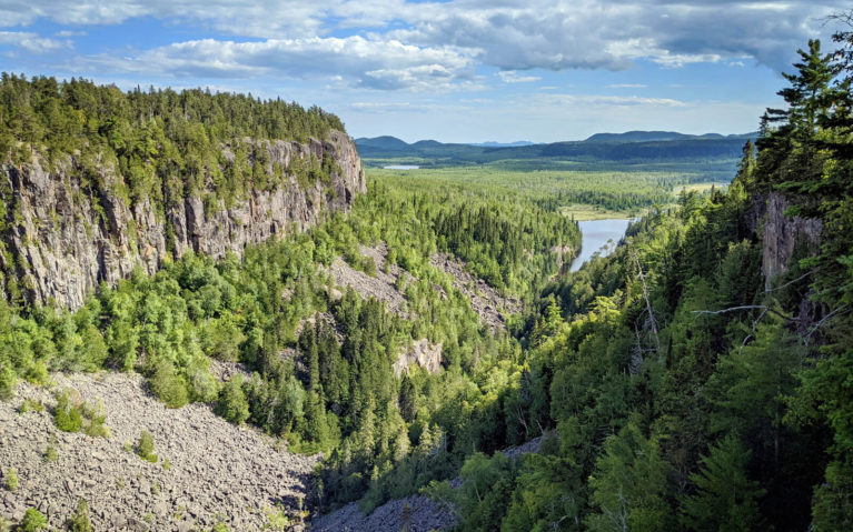 Views of the Ouimet Canyon from One of the Lookouts on a Partly Cloudy Day :: I've Been Bit! Travel Blog