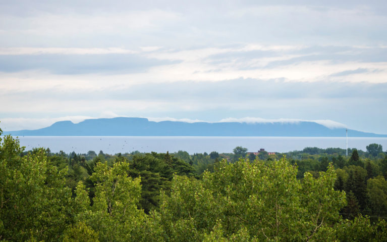 View of the Sleeping Giant from The Bluffs in Thunder Bay :: I've Been Bit! Travel Blog