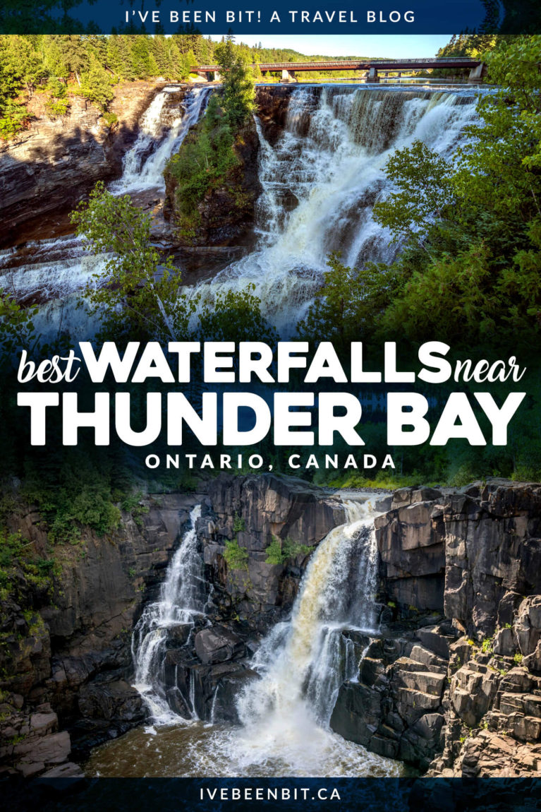 Thunder Bay Ontario is full of amazing things to do, including hiking to some incredible waterfalls! These Thunder Bay waterfalls will have you planning a Northwestern Ontario road trip in no time flat. Includes Kakabeka Falls, Trowbridge Falls and many more! | Ontario waterfalls | Things to Do in Thunder Bay Canada | Ontario Road Trip | Ontario Hiking Trails | #Ontario #Waterfalls | IveBeenBit.ca
