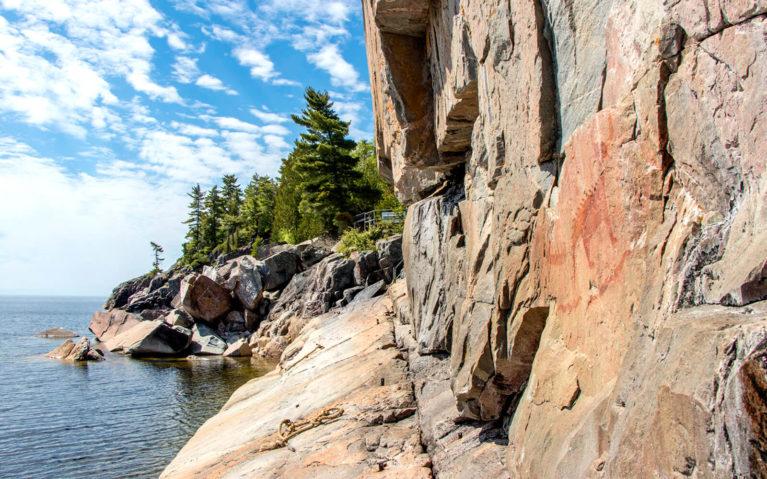 Agawa Pictographs in Lake Superior Provincial Park :: I've Been Bit! Travel Blog