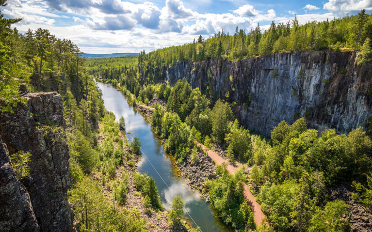 View from the Suspension Bridge at Eagle Canyon Adventures :: I've Been Bit! Travel Blog