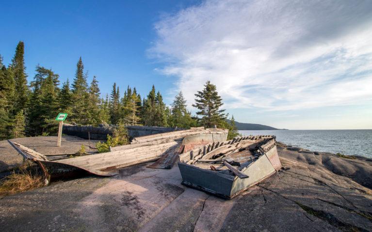 Shipwrecked Boats at Neys Provincial Park :: I've Been Bit! Travel Blog