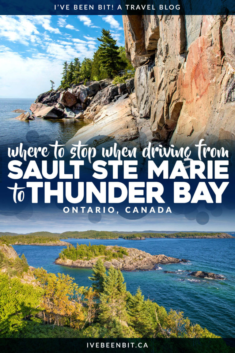 Planning an Ontario road trip? Heading to Northern Ontario? Wondering where to stop? Inside you'll find all the amazing details on where to when travelling from Sault Ste Marie to Thunder Bay! | Trans Canada Highway Ontario | Trans Canada Highway Road Trips | Northern Ontario Road Trip | Northern Ontario Travel | Sault Ste Marie Ontario | Thunder Bay Canada | Ontario Provincial Parks | Provincial Park Ontario | #RoadTrip #Ontario #Canada | IveBeenBit.ca