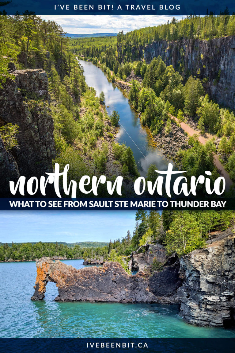 Planning an Ontario road trip? Heading to Northern Ontario? Wondering where to stop? Inside you'll find all the amazing details on where to when travelling from Sault Ste Marie to Thunder Bay! | Trans Canada Highway Road Trips| Trans Canada Highway Ontario | Northern Ontario Road Trip | Northern Ontario Travel | Sault Ste Marie Ontario | Thunder Bay Canada | Provincial Park Ontario | Ontario Provincial Parks | #RoadTrip #Ontario #Canada | IveBeenBit.ca