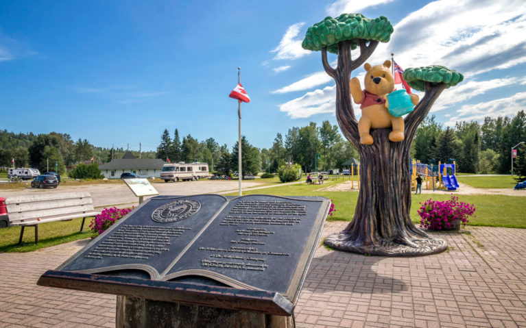 Winnie the Pooh Monument in White River Along the Drive from Sault Ste Marie to Thunder Bay :: I've Been Bit! Travel Blog