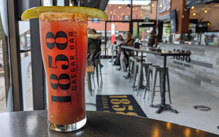 Feelin' Dill Caesar at the 1858 Caesar Bar in Collingwood :: I've Been Bit! Travel Blog