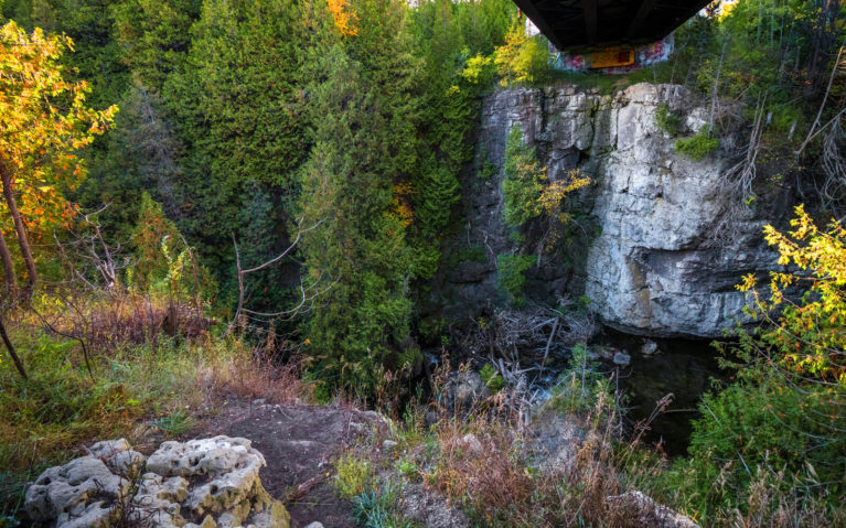 View of the Feversham Gorge in South Georgian Bay :: I've Been Bit! Travel Blog