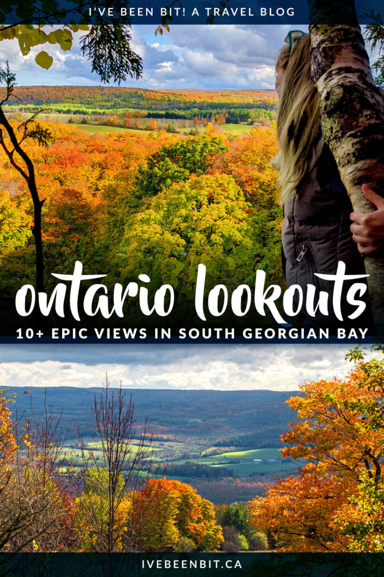 Are you hunting for the best views in Ontario? Look no further than these incredible South Georgian Bay lookouts! With 10+ ideas for amazing sights all year round, you can't miss these amazing Ontario views! I Collingwood Ontario | Blue Mountain Ontario | Things to Do in Ontario Canada I Hiking in Ontario I Ontario Trails I Hiking Trails in Ontario I I Where to Hike in Ontario I Where to Go in Ontario I Fall Hikes in Ontario I Ontario Hikes I autumn hiking in Ontario I Where to Go in Ontario in Fall I #Hiking #Ontario #Canada