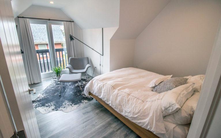 View of the Bedroom from the Door in Suite 307 at the VanderMarck :: I've Been Bit! Travel Blog