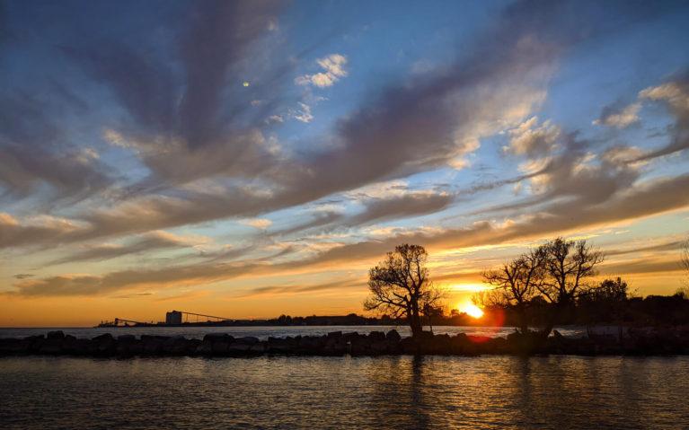 Sunset from Port Darlington East Beach :: I've Been Bit! Travel Blog