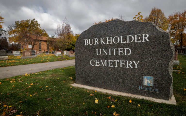 View from the Entrance to the Burkholder Cemetery in Hamilton :: I've Been Bit! Travel Blog