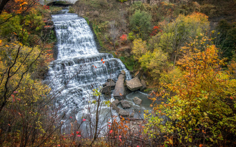 View of Albion Falls in Fall From Lover's Leap :: I've Been Bit! Travel Blog