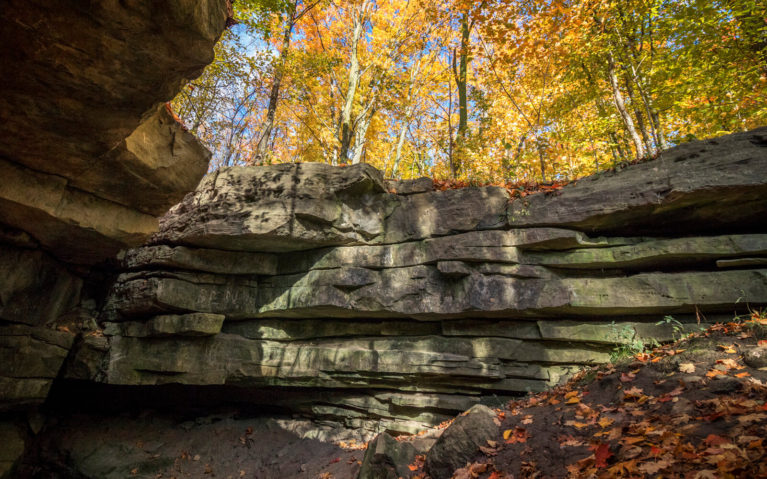 View from the Base of the Pottruff Cave in the Eramosa Karst Conservation Area :: I've Been Bit! Travel Blog
